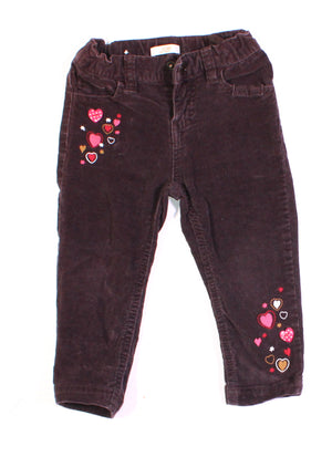 JOE FRESH BROWN CORDUROY PANTS 2T EUC