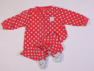 CARTERS FLEECE OWL PYJAMA 6M VGUC