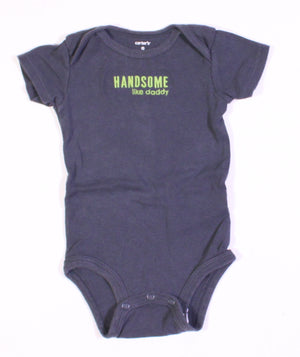 CARTERS HANDSOME LIKE DADDY ONESIE 9M VGUC