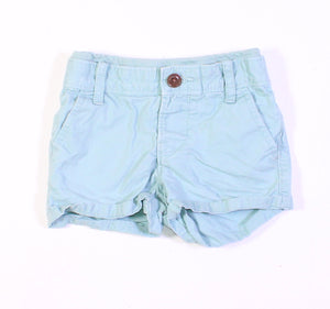 GAP SEAFOAM SHORTS 6-12M VGUC