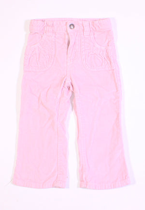 CARTERS LIGHT PINK VELVET PANTS 2T VGUC