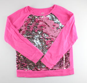 JUSTICE REVERSIBLE SEQUIN TOP SIZE 20 GUC