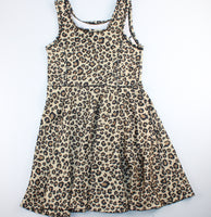 CHILDRENS PLACE LEPARD PRINT DRESS 7-8Y EUC
