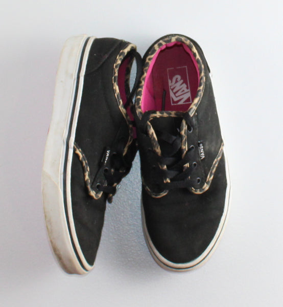 VANS BLACK SNEAKERS YOUTH SIZE 3 VGUC