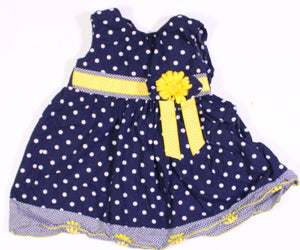 BLUE POLKA DOT DRESS 2YR EUC