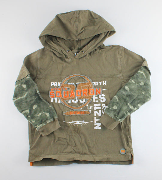 NEVADA GREEN HOODED TOP 6X/7Y VGUC