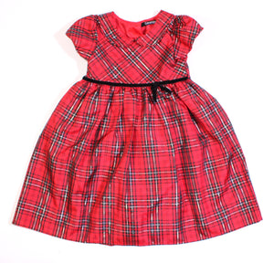 GEORGE PLAID HOLIDAY DRESS 3Y EUC