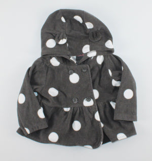 CARTERS POLKA DOT FLEECE SWEATER 12M EUC