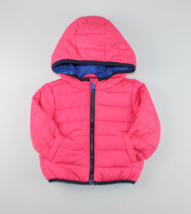 JOE FRESH PINK PUFF JACKET 3-6M EUC