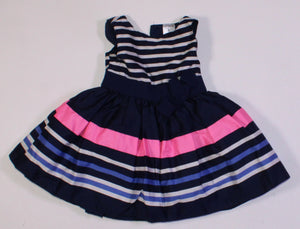 CARTERS STRIPED PARTY DRESS 6M EUC