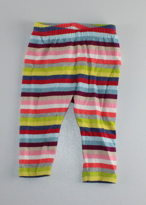 GAP STRIPED COTTON PANTS 3-6M EUC