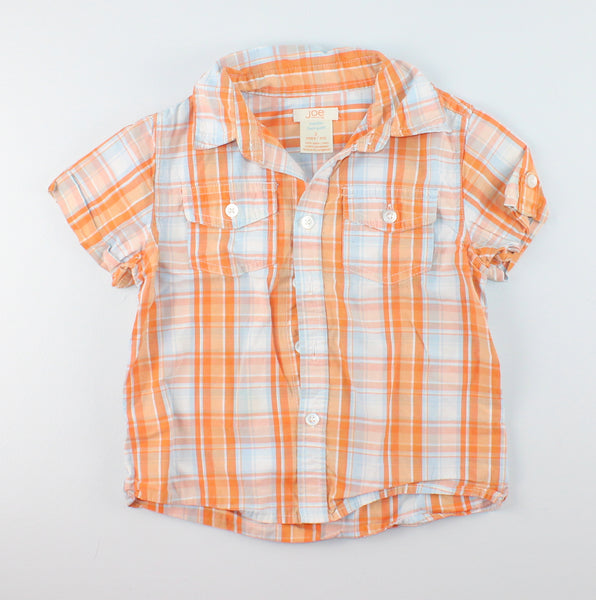 JOE FRESH ORANGE PLAID TOP 3Y EUC