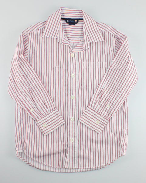GAP STRIPED RED AND WHITE TOP 6-7Y EUC