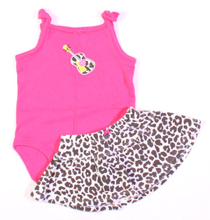 CARTERS ANIMAL PRINT GUITAR OUTFIT 6M VGUC