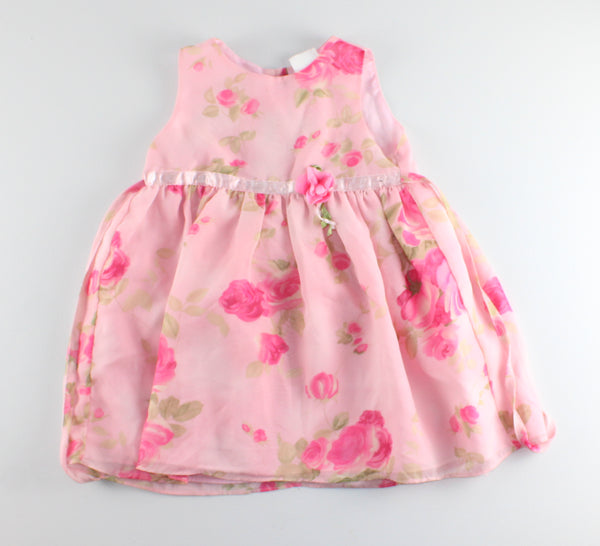 PINK FLOWER DRESS 30LBS VGUC/EUC