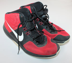 NIKE BLACK AND RED HIGH TOP RUNNERS SIZE 13 (MENS) GUC