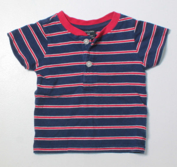 FADED GLORY STRIPED TOP 3-6M EUC