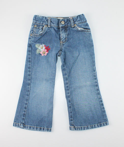 OLD NAVY EMBROIDERED JEANS 3T VGUC