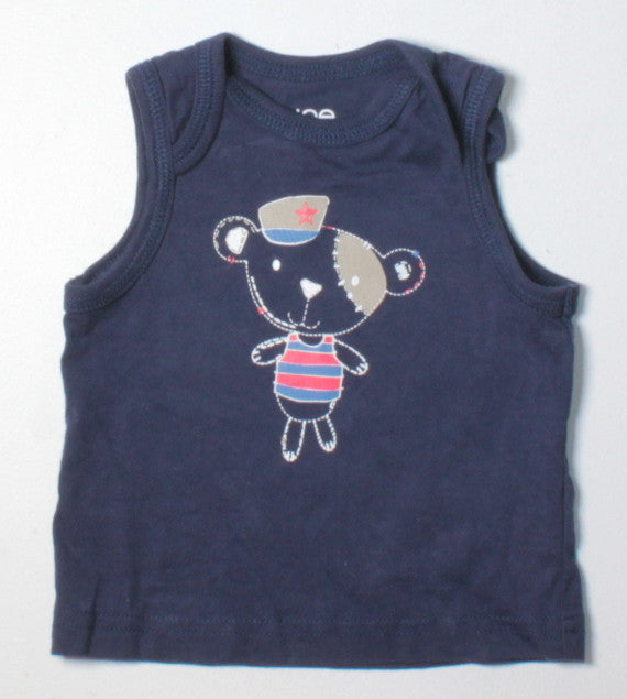 JOE FRESH NAVY TANK TOP 3-6M EUC