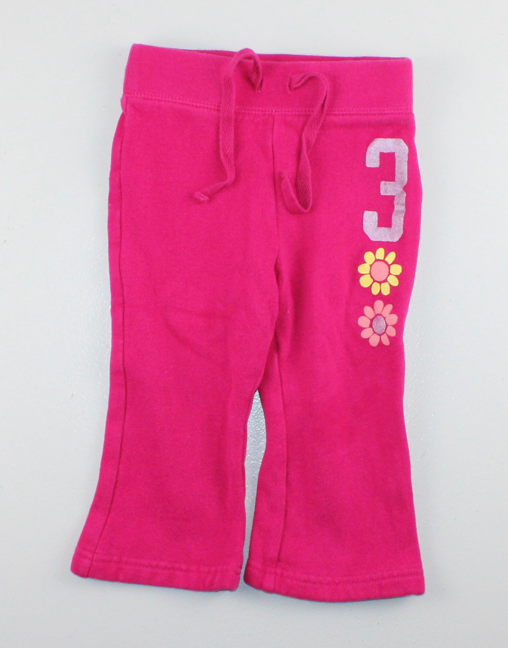 OLD NAVY PINK #3 TRACK PANTS 12-18M EUC