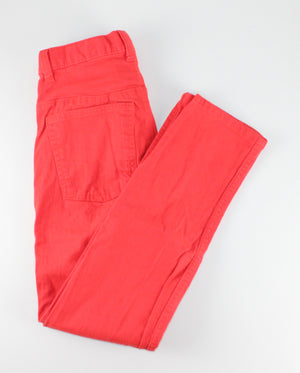 OLD NAVY BRIGHT RED PANTS SKINNY FIT 12Y EUC