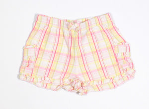 GAP PLAID SHORTS 0-3M VGUC
