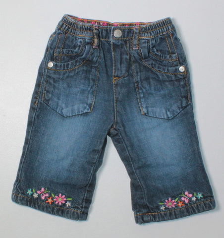 TCP LINED FLOWER JEANS 3-6M VGUC