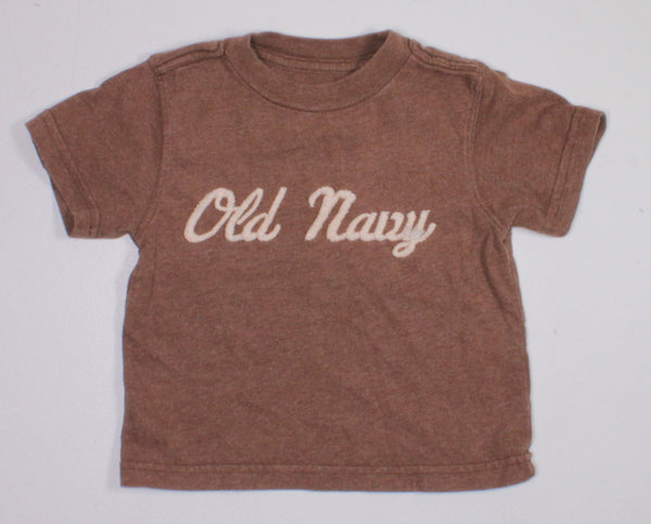 OLD NAVY BROWN TEE 12-18M EUC