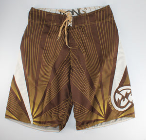 BILLABONG BROWN BOARD SHORTS MENS 34 EUC