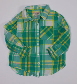 CHEROKEE PLAID TOP 24M EUC