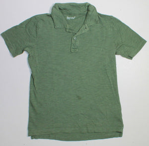 GAP GREEN COLLARED SL TOP 6-7Y PC