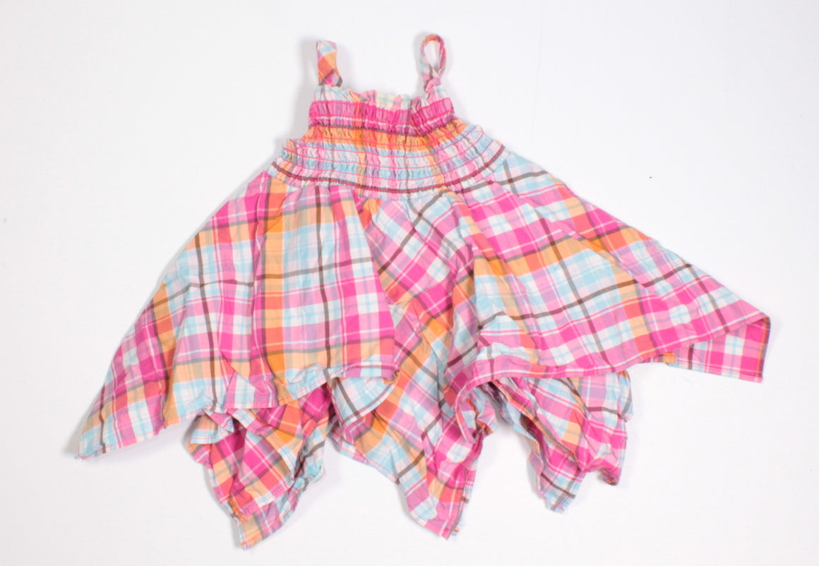 GYMBOREE PLAID DRESS 0-3M EUC