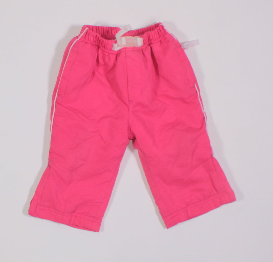 TEDDY CHOICE LINED PINK PANT 12M VGUC