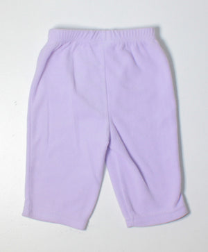 CARTERS PURPLE FLEECE PANTS 3M EUC