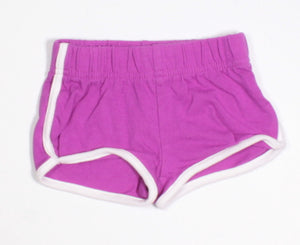GEORGE PURPLE COTTON SHORTS 0-3M EUC