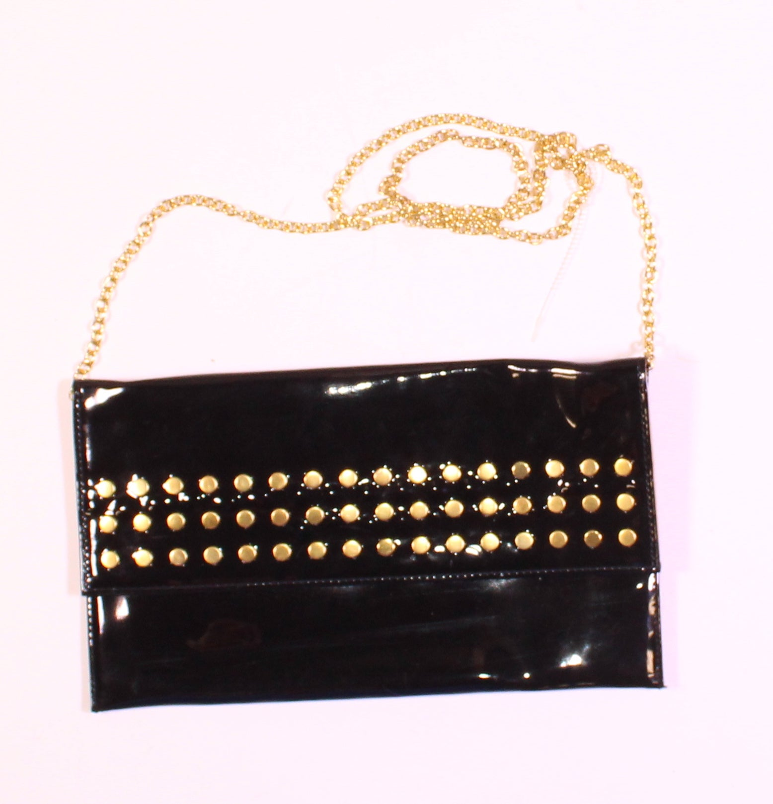 BLACK STUDDED PURSE VGUC