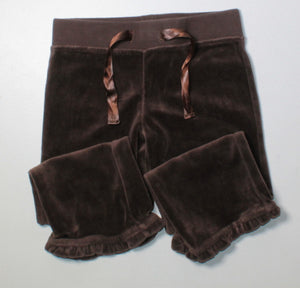 CHEROKEE BROWN VELOUR TRACK PANTS 3X EUC