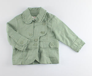 JOE FRESH GREEN SPRING JACKET 3-6M EUC