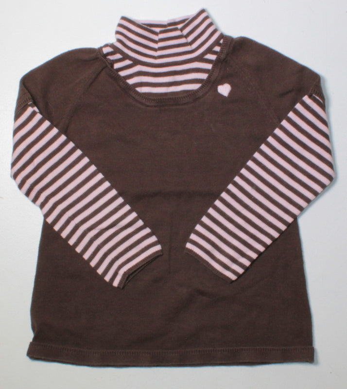 GYMBOREE BROWN LS THICK TOP 5Y VGUC/EUC