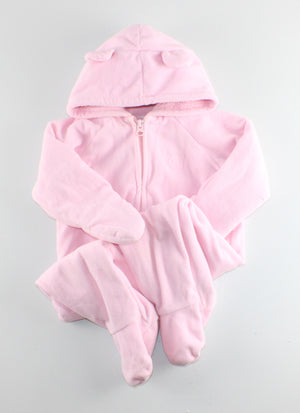 OLD NAVY PINK FLEECE SPRING/FALL COAT 6-12M EUC