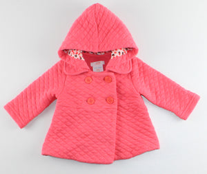 JOE FRESH QUILTED CORAL LIGHT JACKET 3-6M EUC