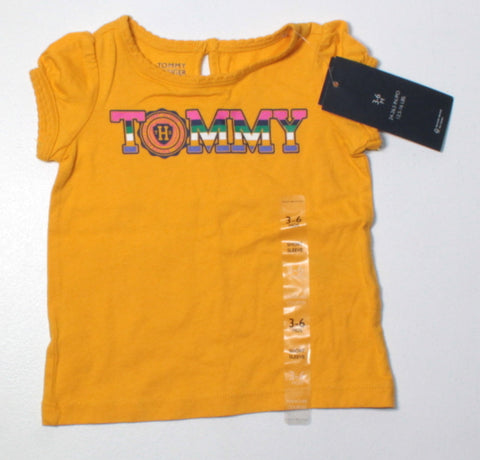 TOMMY HILFIGER YELLOW TEE 3-6M NEW!