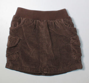 OLD NAVY BROWN SKIRT 4T EUC