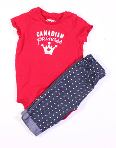 GIRLS 2 PIECE OUTFIT 12M EUC