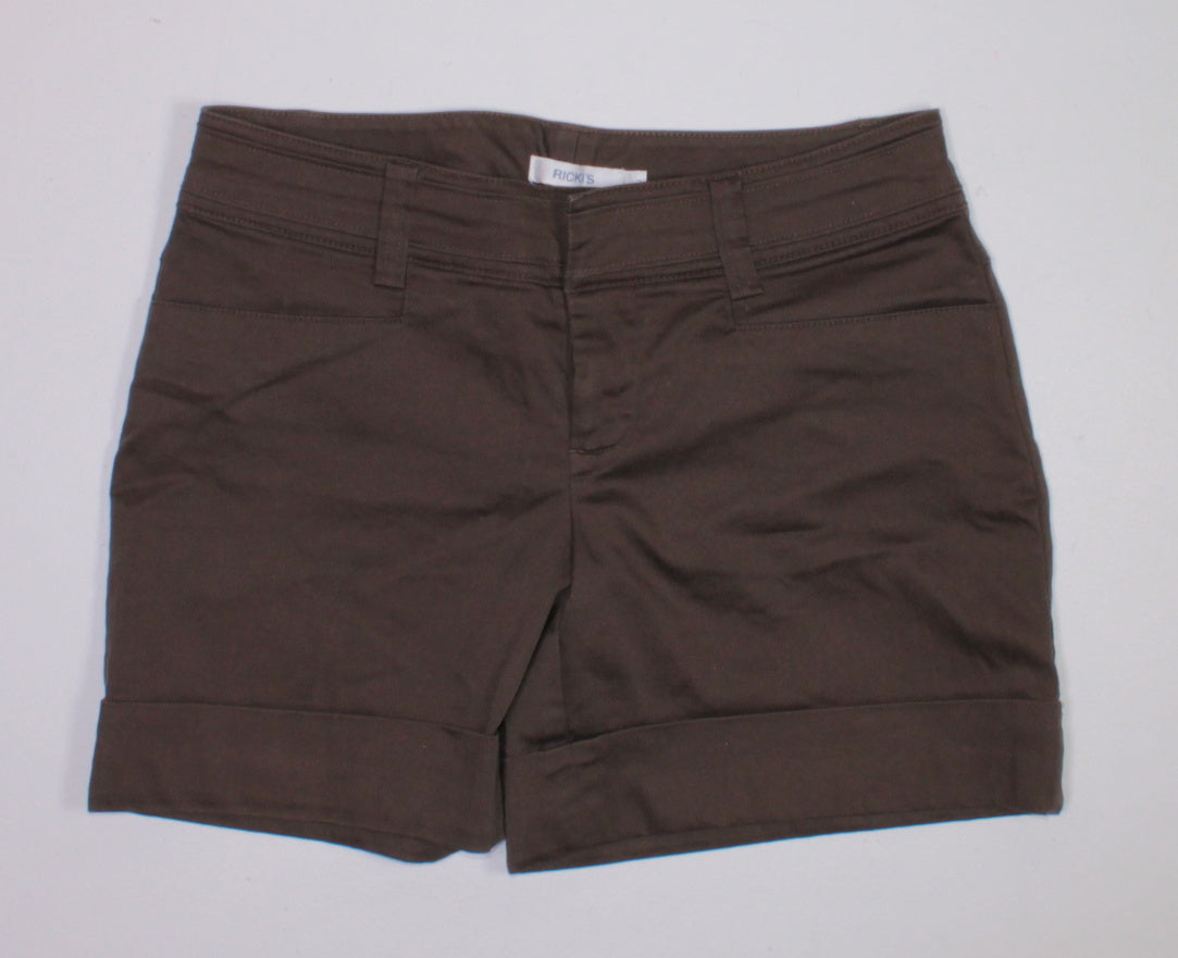 RICKIS BROWN LADIES SHORTS SIZE 2 EUC
