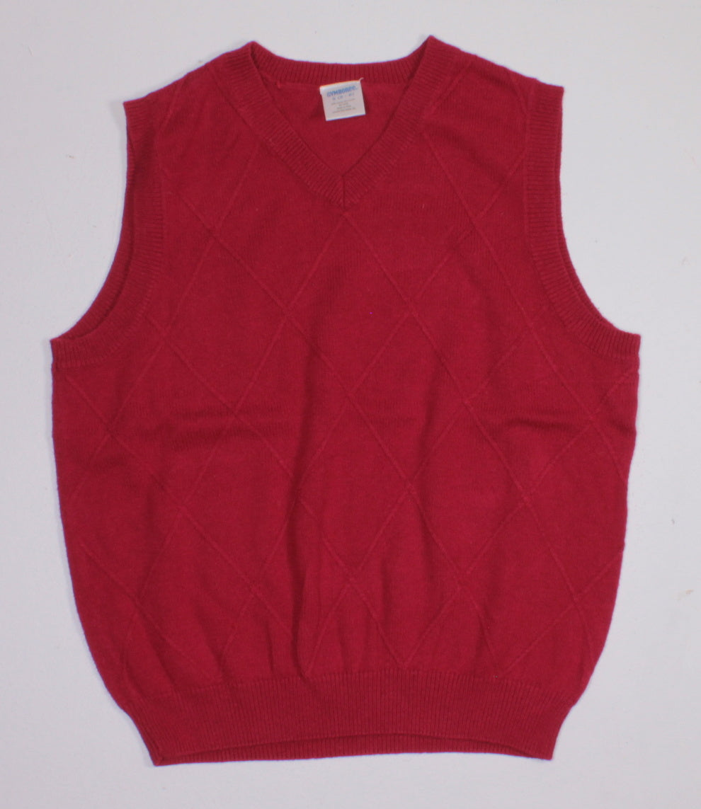 GYMBOREE RED VEST 5-6Y EUC