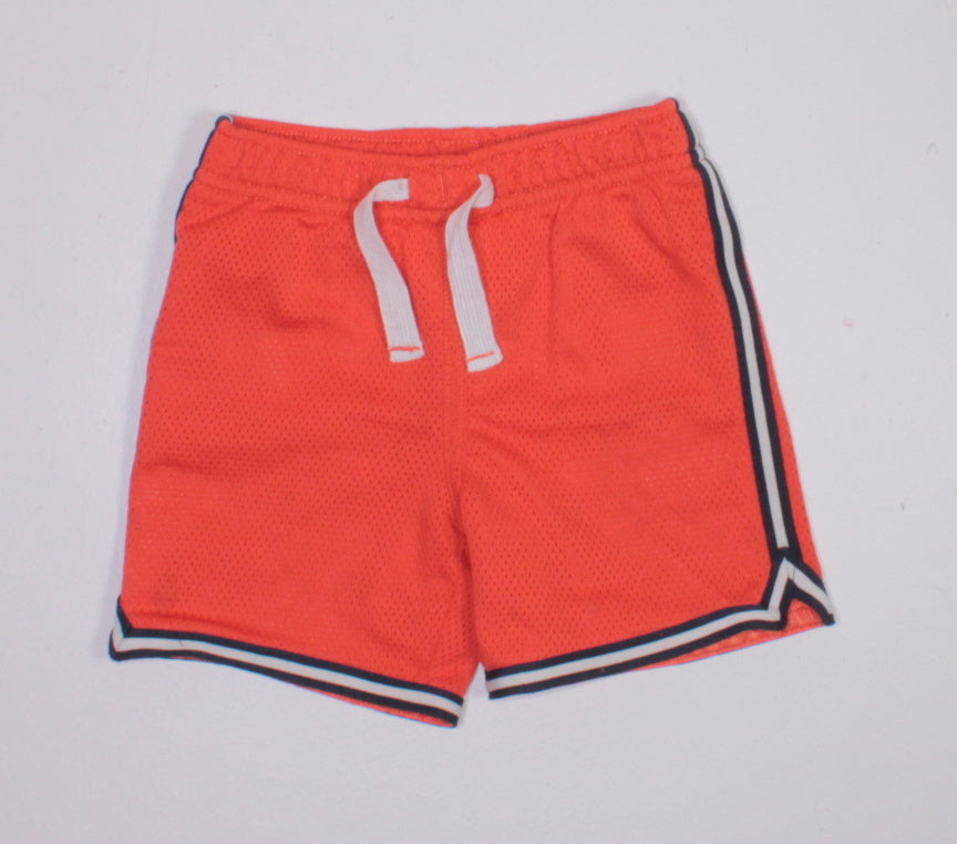 CARTERS ORANGE BASKETBALL SHORTS 24M EUC