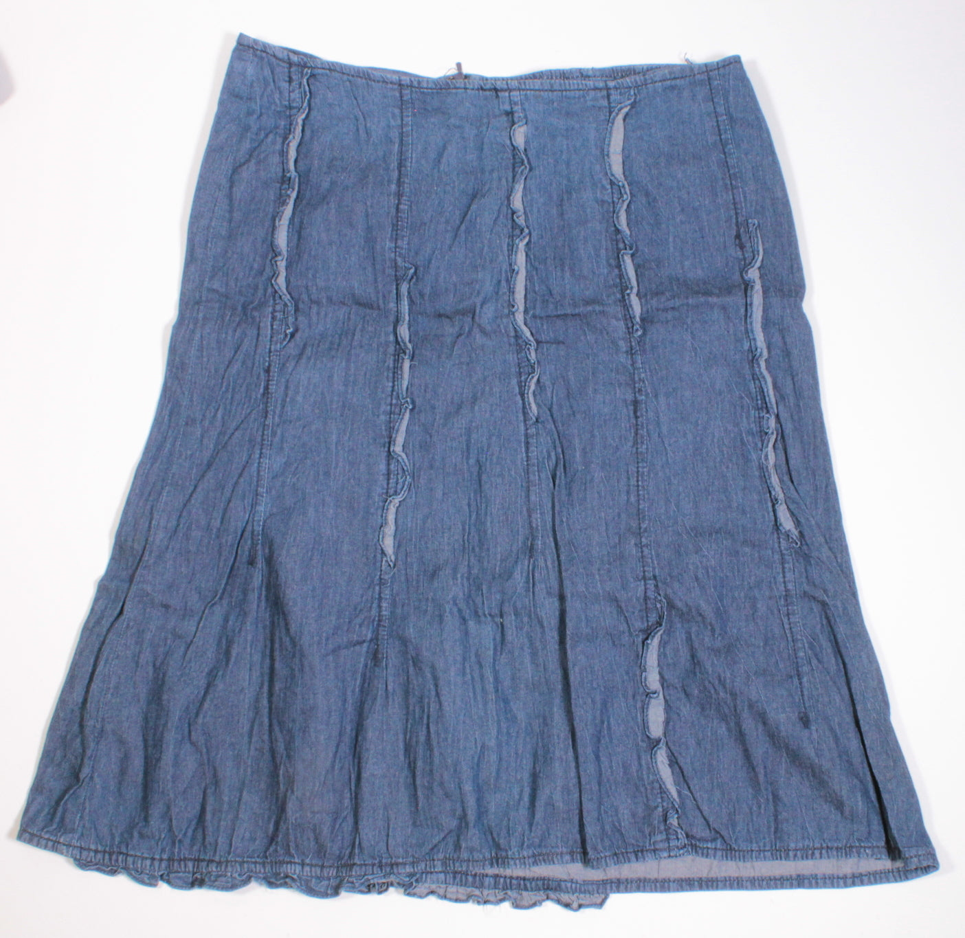 PARASUCO LONG DENIM SKIRT LADIES SIZE 8 VGUC