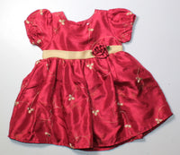 GEORGE RED & GOLD HOLIDAY DRESS 18M EUC