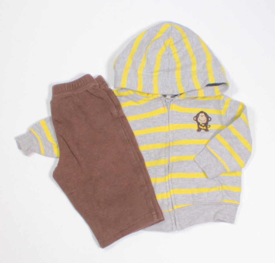 CARTERS MONKEY OUTFIT 3M EUC